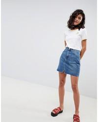 blauer Jeans Minirock von ASOS DESIGN