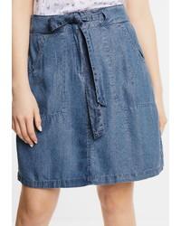 blauer Jeans Minirock von Cecil