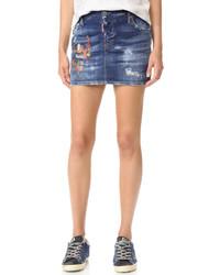 blauer Jeans Minirock von Dsquared2