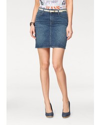 blauer Jeans Minirock von Lee