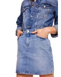 blauer Jeans Minirock von Mango