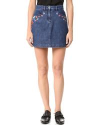 blauer Jeans Minirock von The Kooples
