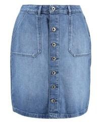 Blauer Jeansrock mit knöpfen von Esprit
