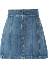 Blauer Jeansrock mit knöpfen von Frame Denim
