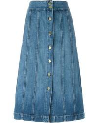Blauer Jeansrock mit knöpfen von Frame