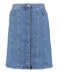 Blauer Jeansrock mit knöpfen von Lee