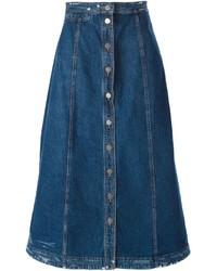 Blauer Jeansrock mit knöpfen von Rachel Comey