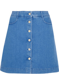 blauer Jeansrock mit knöpfen von Stella McCartney