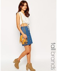 blauer Jeansrock mit knöpfen von Vero Moda