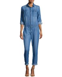 blauer Jumpsuit aus Jeans