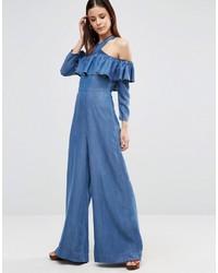blauer Jumpsuit aus Jeans von Asos