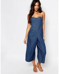 blauer Jumpsuit aus Jeans von Boohoo