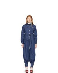 blauer Jumpsuit aus Jeans von Gucci