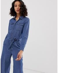 blauer Jumpsuit aus Jeans von Only
