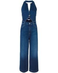 blauer Jumpsuit aus Jeans von Stella McCartney