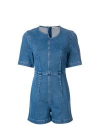 blauer kurzer Jumpsuit aus Jeans von Stella McCartney