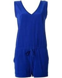 blauer kurzer Jumpsuit von P.A.R.O.S.H.