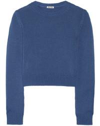 blauer kurzer Pullover von Miu Miu