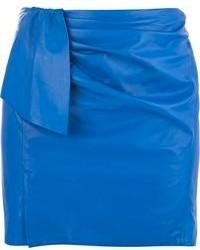 blauer Leder Minirock von Isabel Marant