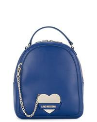 blauer Leder Rucksack von Love Moschino