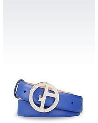 blauer Ledergürtel