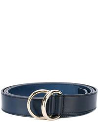 blauer Ledergürtel von Santoni