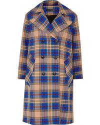 blauer Mantel mit Schottenmuster von Rag & Bone