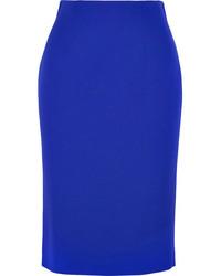 blauer Midirock von Alexander McQueen