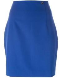 blauer Minirock von Versace