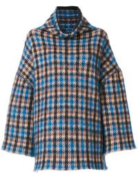 blauer Mohair Oversize Pullover von Stella McCartney