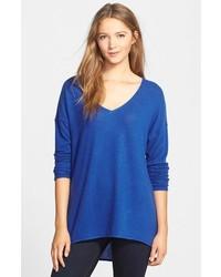 blauer Oversize Pullover