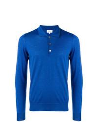 blauer Polo Pullover von Brioni