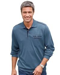 blauer Polo Pullover von CATAMARAN
