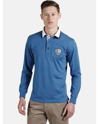 blauer Polo Pullover von Charles Colby