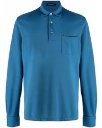 blauer Polo Pullover von Ermenegildo Zegna