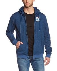 blauer Pullover mit einem Kapuze von adidas
