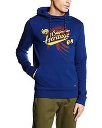blauer Pullover mit einem Kapuze von Esprit