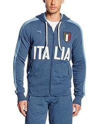 blauer Pullover mit einem Kapuze von Puma