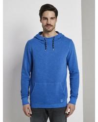 blauer Pullover mit einem Kapuze von Tom Tailor