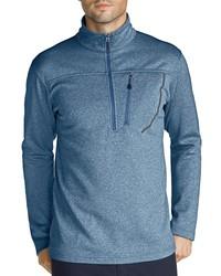 blauer Pullover mit einem Reißverschluss am Kragen von Eddie Bauer