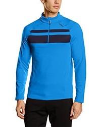 blauer Pullover mit einem Reißverschluss am Kragen von Odlo