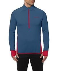 blauer Pullover mit einem Reißverschluss am Kragen von VAUDE
