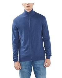 blauer Pullover mit einem Reißverschluß von Esprit