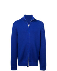 blauer Pullover mit einem Reißverschluß von Maison Margiela