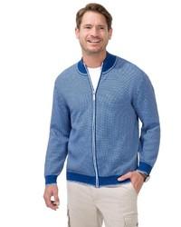 blauer Pullover mit einem Reißverschluß von MARCO DONATI