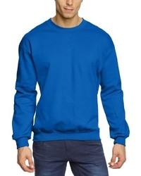 blauer Pullover mit einem Rundhalsausschnitt von Anvil