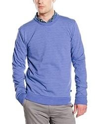 blauer Pullover mit einem Rundhalsausschnitt von Benetton