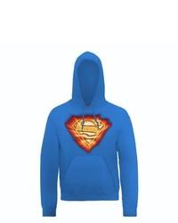 blauer Pullover mit einem Rundhalsausschnitt von DC Universe