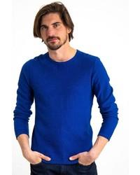 blauer Pullover mit einem Rundhalsausschnitt von GARCIA