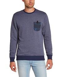 blauer Pullover mit einem Rundhalsausschnitt von Hurley